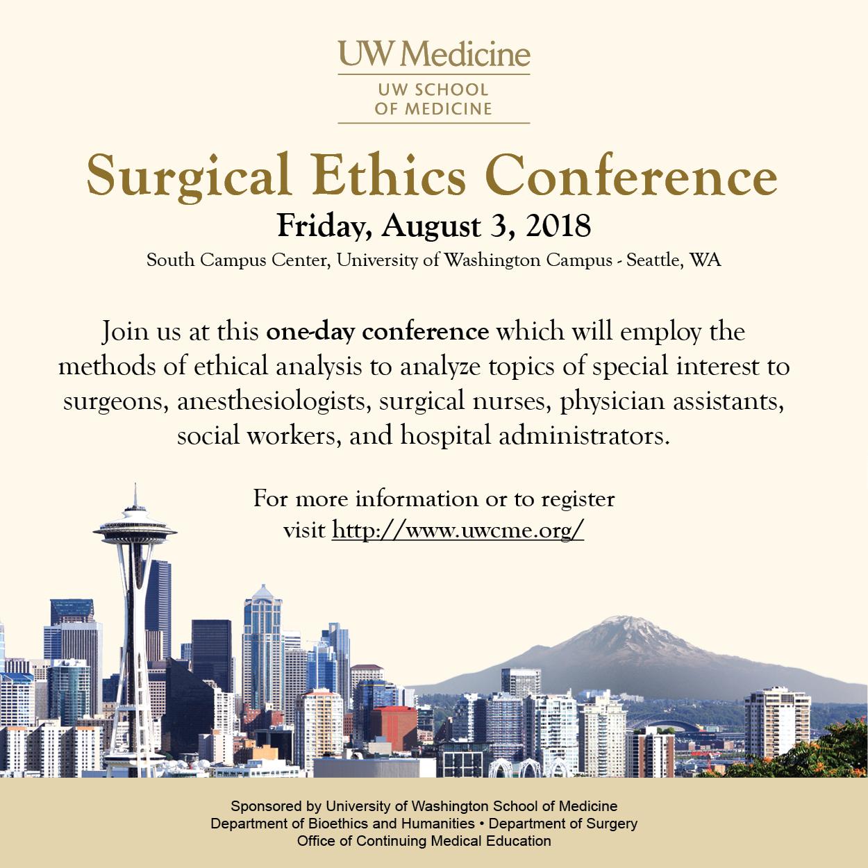 2018 Surgical Ethics Announcement