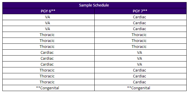 two-year ct fellowship sample schedule