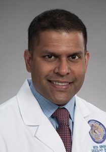 Headshot portrait of Dr. Niten Singh, vascular surgery.